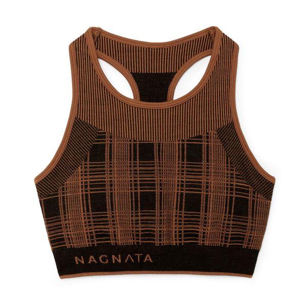 Nagnata Check-Back Racer Crop Top