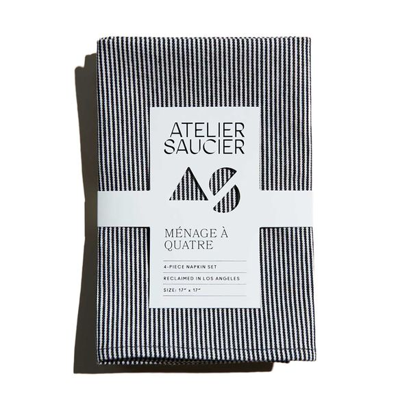 Atelier Saucier Hickory Stripe Napkins, Set of 4