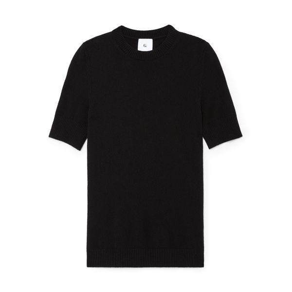 G. Label Marlon Crewneck Short-Sleeve Sweater