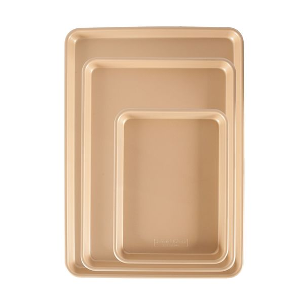 Nordic Ware 3-Piece Gold Nonstick Sheet Pan Set