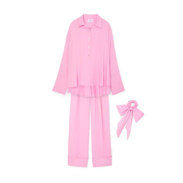 Sleeper Sizeless Viscose Pajama Set Pink