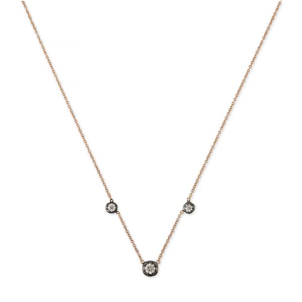 Jacquie Aiche Three-Diamond Sophia Necklace