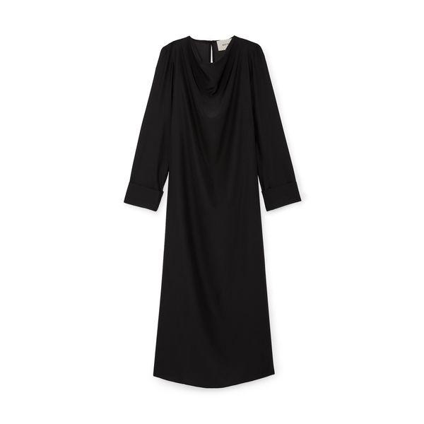 Matin Cowl-Neck Silk Dress