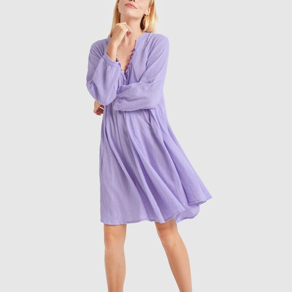 NATALIE MARTIN Fiore Short Dress with Contrast Buttons