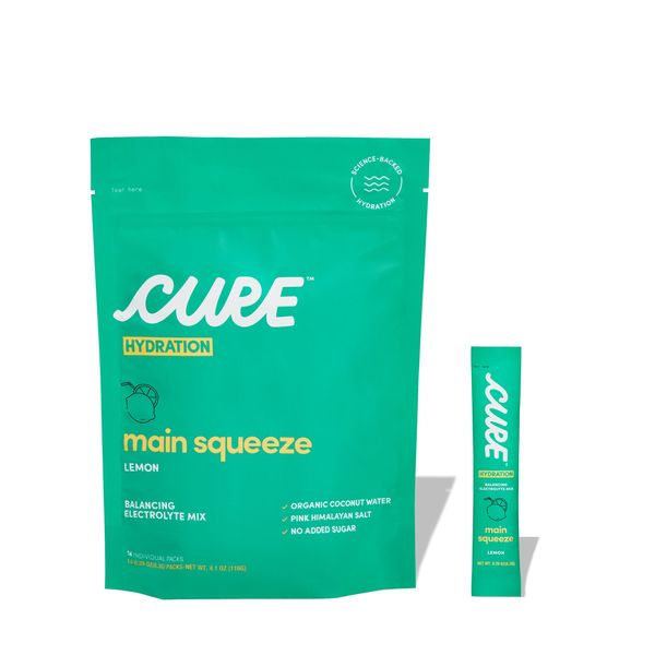 CURE HYDRATION Main Squeeze Lemon Daily Electrolyte Mix