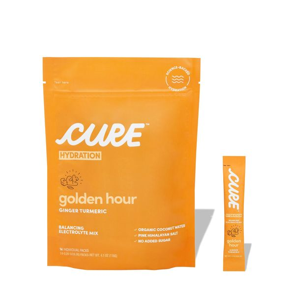 CURE HYDRATION Golden Hour Ginger Turmeric Daily Electrolyte Mix