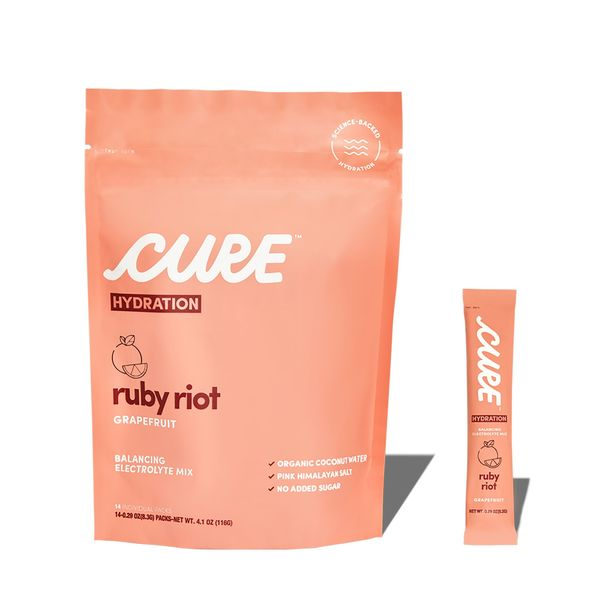 Cure Hydration Ruby Riot Grapefruit Daily Electrolyte Mix
