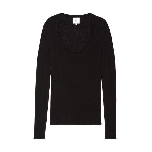 G. Label Lynn Scoop-Neck Cashmere Sweater