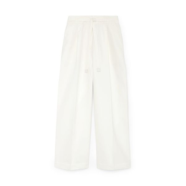 G. LABEL Henry Cropped Pleat-Front Pants