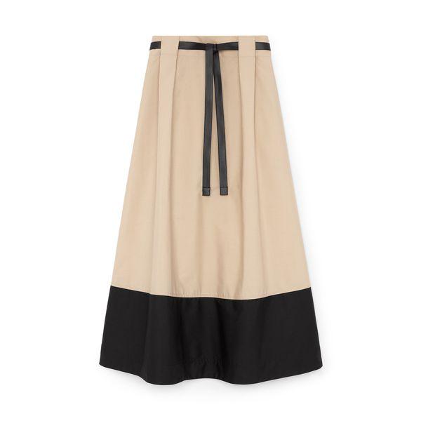 G. Label Violeta A-Line Colorblock Skirt