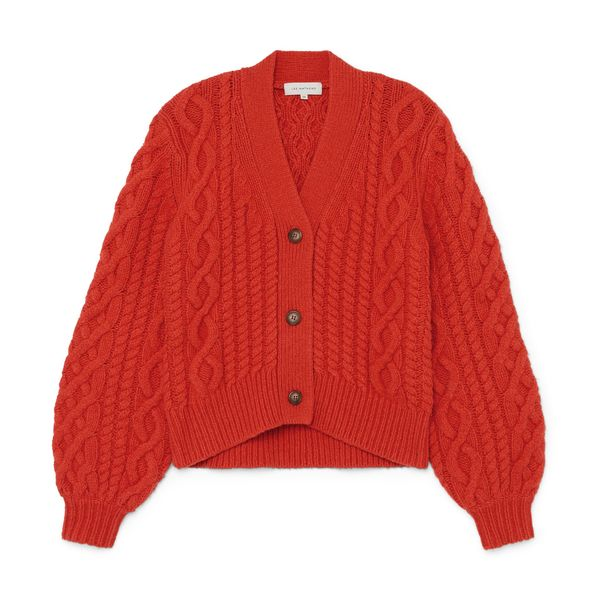 Lee Mathews Stanford Cable-Knit Cardigan