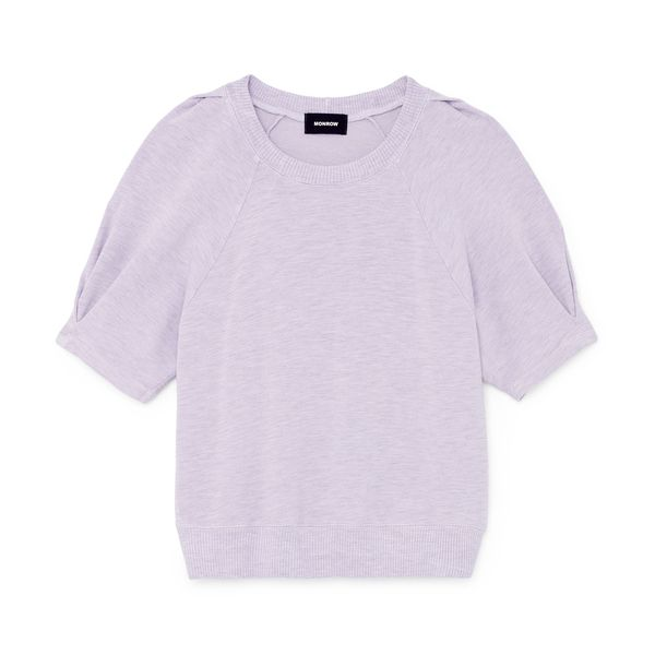 Monrow Supersoft Puff-Sleeve Sweatshirt