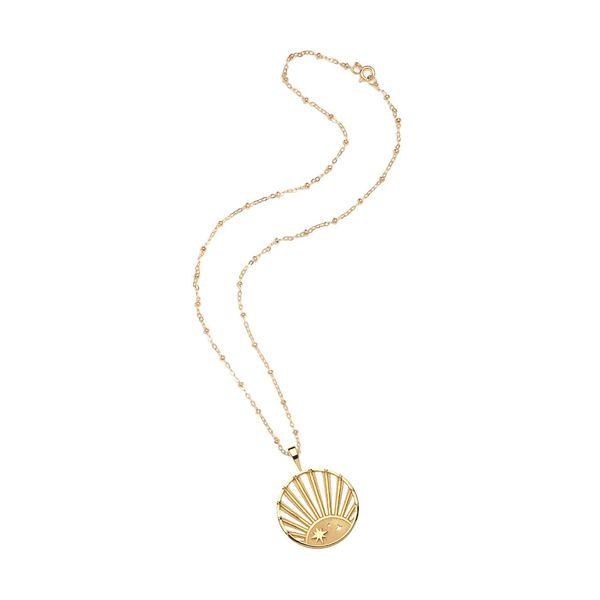 Jane Win Strong Rising Sun Cutout Pendant Necklace