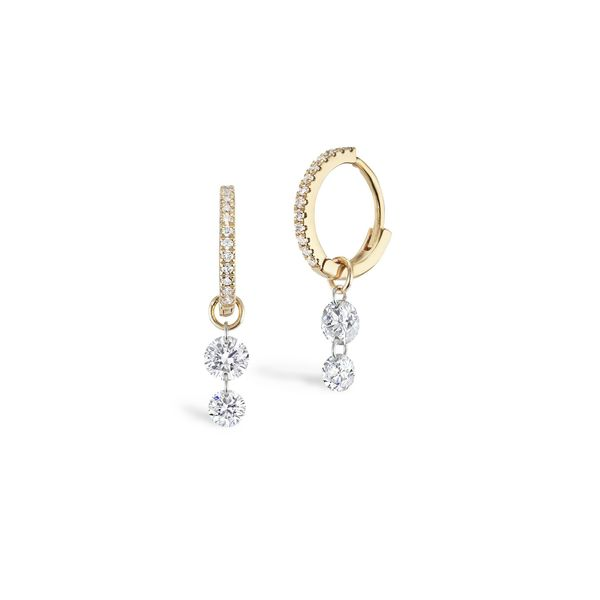 Sophie Ratner Double-Pierced Diamond Pavé Huggies