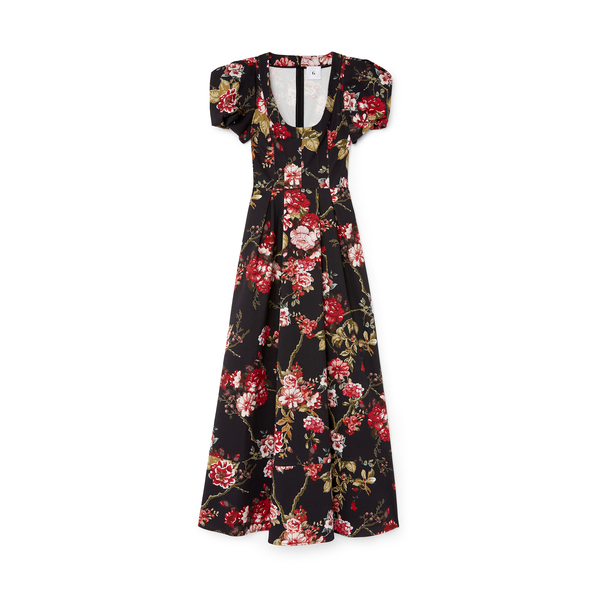 G. LABEL Rita Round-Neck Gown